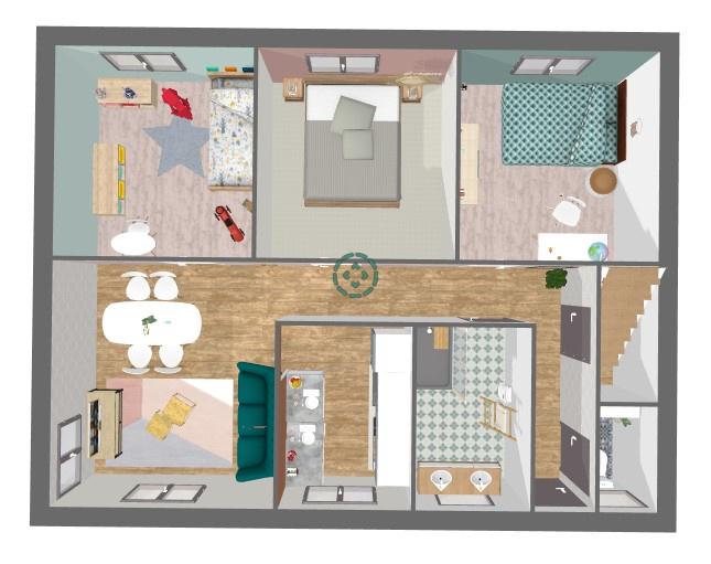 Plan 3 DTravaux mise en oeuvre : décoration